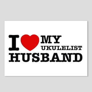 I love my Ukulelist husband Postcards (Package of