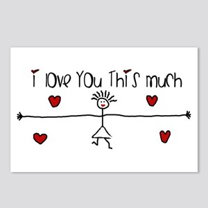 I Love You This Much Postcards (Package of 8)