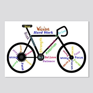 Bike made up of words to  Postcards (Package of 8)