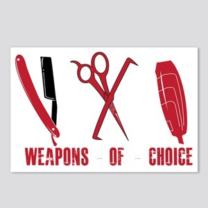 Barber Red Tools of the T Postcards (Package of 8)