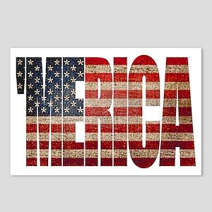 Vintage MERICA U.S. Flag Postcards (Package of 8)