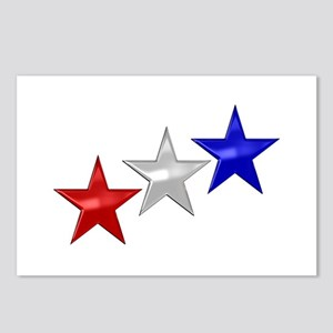 Three Shiny Stars Postcards (Package of 8)
