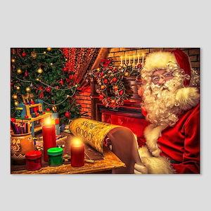 Santa Claus 4 Postcards (Package of 8)