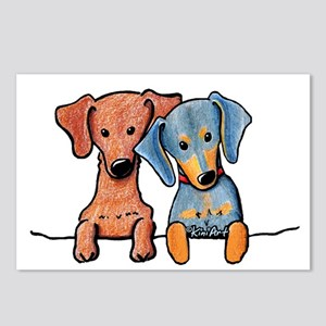 Pocket Doxie Duo Postcards (Package of 8)