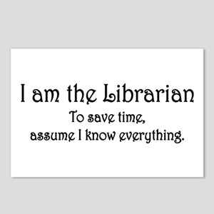 I am the Librarian Postcards (Package of 8)