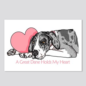 MerleB UC Holds Heart Postcards (Package of 8)
