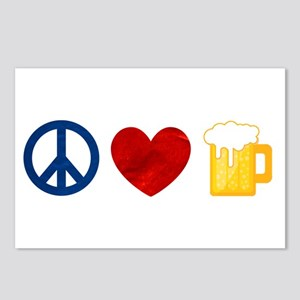 Peace Love Beer Postcards (Package of 8)