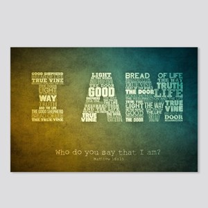 I AM Word Art Postcards (Package of 8)