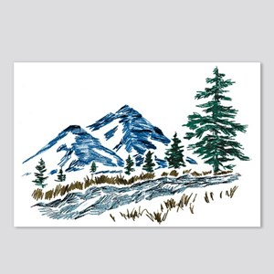 Sketch Mountain Scene Postcards (package Of 8)