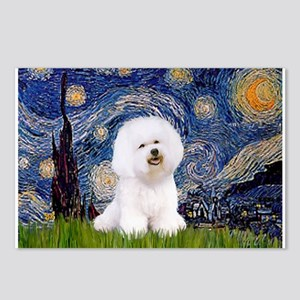 Starry Night Bichon Postcards (Package of 8)