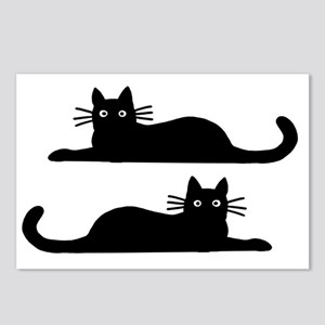 catsrectanglesticker Postcards (Package of 8)