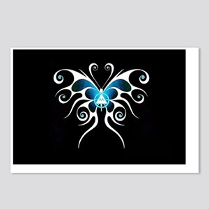 AA white butterfly Postcards (Package of 8)