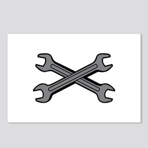 CROSSED WRENCHES Postcards (Package of 8)
