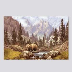 Grizzly Bear Landscape Postcards (Package of 8)