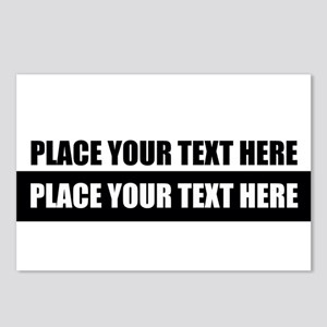 Text message Customized Postcards (Package of 8)
