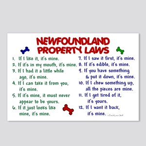 Newfoundland Property Laws 2 Postcards (Package of