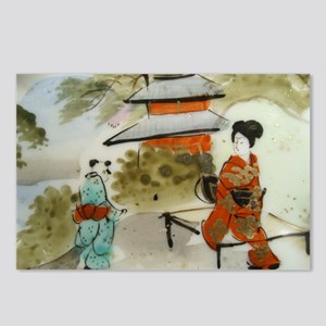 Asian art design Postcards (Package of 8)