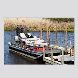 Florida swamp airboat Postcards (Package of 8)