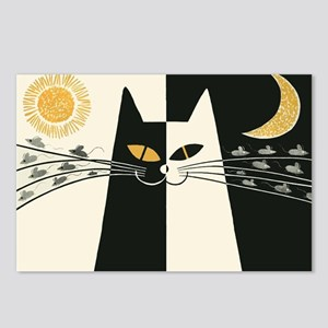 Black and White Cat; Vintage Poster Postcards (Pac