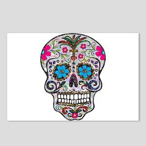 glitter Sugar Skull Postcards (Package of 8)