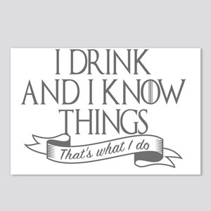 I drink and I know things Postcards (Package of 8)