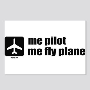 Me Pilot, Me Fly Plane Postcards (Package of 8)
