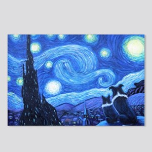 Starry Night Border Collies Postcards (Package of
