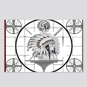 TV Test Pattern Indian Chief Postcards (Package of