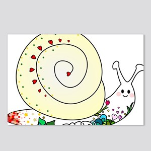 Colorful Cute Snail Postcards (Package of 8)
