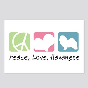 Peace, Love, Havanese Postcards (Package of 8)