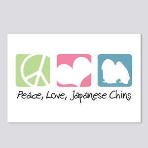 Peace, Love, Japanese Chins Postcards (Package of