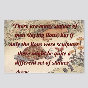 There Are Many Statues Of Men - Aesop Postcards (P