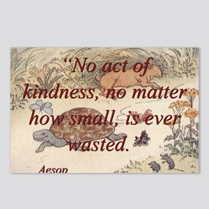 No Act Of Kindness - Aesop Postcards (Package of 8