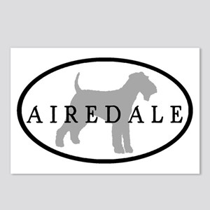 Airedale Terrier Oval #3 Postcards (Package of 8)