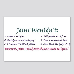 """Jesus Wouldn't"" Postcards (Pkg of 8)"