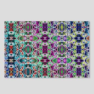 Rainbow Fractal Art Patte Postcards (Package of 8)