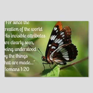 Butterfly Romans 1:20 Postcards (Package of 8)