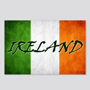 """IRELAND"" on Irish Flag Postcards (Package of 8)"