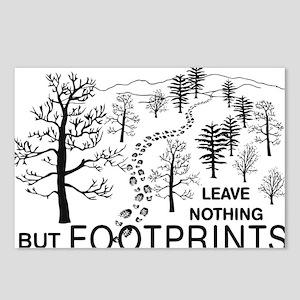 Leave Nothing but Footpri Postcards (Package of 8)