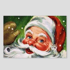 Vintage Santa Face 1 Postcards (Package of 8)