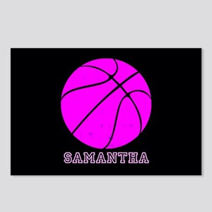 Pink Basketball Girls Postcards (Package of 8)