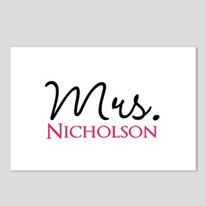 Customizable Name Mrs Postcards (Package of 8)