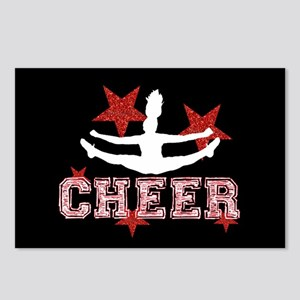 Cheerleader in black and red Postcards (Package of