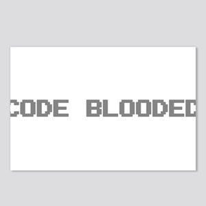 Code Blooded Postcards (Package of 8)