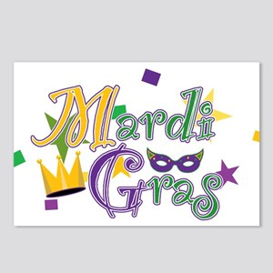 Mardi Gras 5 Postcards (Package of 8)
