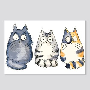 Three 3 Cats Postcards (Package of 8)