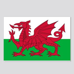 Welsh Flag Postcards (Package of 8)