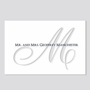 Elegant Name and Monogram Postcards (Package of 8)