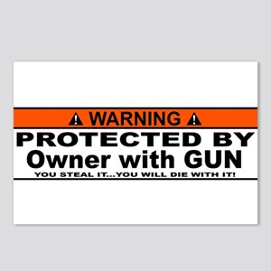 protected by gun owner Postcards (Package of 8)