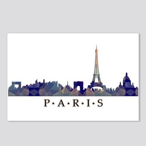 Mosaic Skyline of Paris F Postcards (Package of 8)